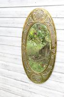 Arts & Crafts Movement Scottish / Glasgow School Large Oval Wall Mirror c.1900 (3 of 28)