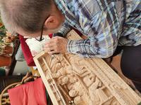 'Last Supper' High Relief Carving in Lime Wood, by Scottish Sculptor Alan Lees (6 of 9)