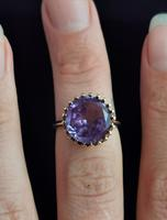 Vintage Colour Change Sapphire Cocktail Ring, 14k Yellow Gold (9 of 9)