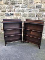 Pair of Antique Oak Open Bookcases (10 of 10)