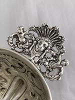 Victorian Antique Silver Fruit Bowl 1861 London William Stocker Sterling Bowl (7 of 11)