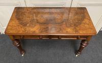 Fine Rare Burr Walnut Writing Table or Desk (3 of 20)