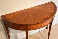 Demi Lune Console Table Sheraton Revival Sunburst Design (5 of 6)