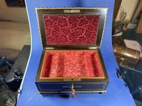 19th Century French  Ebonised Fruitwood Jewellery Box (12 of 18)