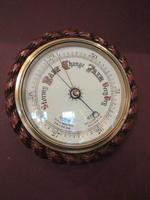 Large Antique Polished Oak Ship's Barometer (2 of 6)