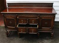 1940s Oak Sideboard with Back - Good Storage (3 of 5)