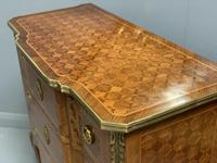 Small French kingwood parquetry chest of drawers (3 of 7)