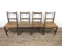 Set of Four Antique Farmhouse Kitchen Chairs (2 of 9)