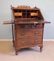 Antique Mahogany Small Bureau Writing Desk (10 of 11)