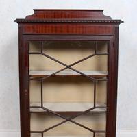 Glazed Bookcase Edwardian Astragal Display Cabinet Mahogany (7 of 11)