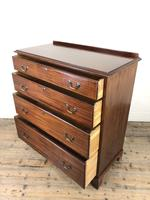 Antique Edwardian Mahogany Chest of Drawers (8 of 15)