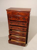 A Beautifully Figured Mid Victorian Wellington Chest (2 of 4)