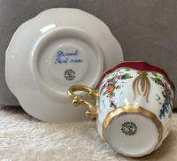 Limoges, France Hand Painted Cup & Saucer (5 of 6)