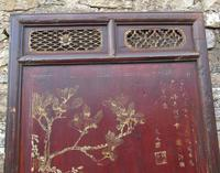 Impressive Pair of Chinese Chinoiserie Lacquered Panels (6 of 10)