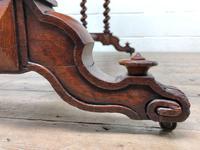 Antique Walnut Table with Barley Twist Legs (10 of 10)