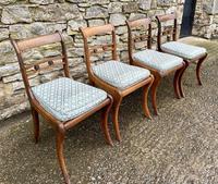 Set of 4 Regency Rosewood Sabre Leg Dining Chairs (5 of 15)