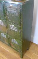 Vintage Industrial 15 Door Metal Workshop Cabinet Locker c.1930 (13 of 14)
