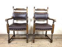 Pair of Mid 20th Century Oak Armchairs