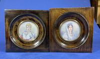 Pair of 1920s Painted Miniatures of Emperor Napoleon & Josephine (2 of 30)