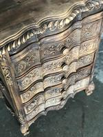 Antique Bleached Oak French Chest of Drawers (6 of 8)