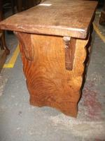 Solid Elm Church Stool (3 of 3)