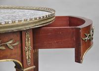 19th Century Mahogany & Marble Top Occasional Table (7 of 11)
