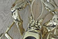 Rare Victorian Brass Inkwell of a Life Size Lobster Reg Number 136502 c.1888 (4 of 10)