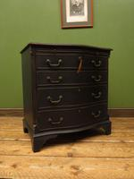 Antique Reproduction Black Painted Chest of Drawers, Lockable Bachelors Chest (14 of 17)