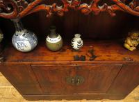 Antique Chinese Qing Shrine Shelf Cabinet with Doors (18 of 18)
