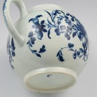 Large First Period Worcester Porcelain Mansfield Pattern Teapot c.1775 (3 of 15)