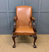 Leather Upholstered Gainsborough Armchair (2 of 12)