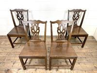 Set of Four Country Oak Dining Chairs (2 of 10)