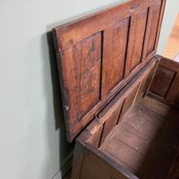 17th Century Period Oak Antique Carved Coffer (8 of 8)