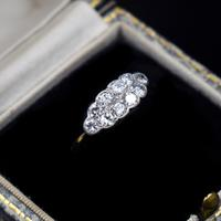 Antique Old Cut Diamond 10 Stone Double Row 18k 18ct Yellow Gold Ring (2 of 9)
