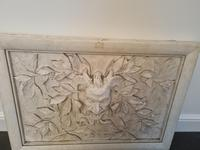Italian Moulded Plaster Relief Panel Depicting Grotesque Mask