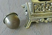 Fine Small Aesthetic Movement Brass Inkwell c.1890 (3 of 7)