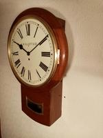 "14"" Mahogany, Elliott, Drop-dial Fusee Wall Clock (3 of 4)"