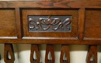 Arts & Crafts Oak Settle (6 of 6)