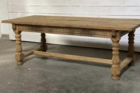 Superb Quality Large Bleached Oak Farmhouse Dining Table (2 of 32)
