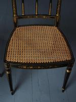 Set of 3 Regency Style Painted Bergere Chairs (8 of 18)