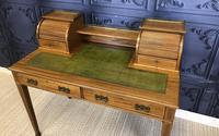 Victorian Inlaid Mahogany Writing Desk (3 of 20)