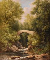 """Oil Painting by  William Ward Gill """"A North Wales Bridge"""" (2 of 5)"""