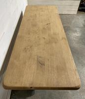 French Bleached Oak Farmhouse Table Nice Thick Top (11 of 14)
