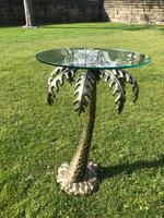 Bronze Glass Top Palm Tree Table (6 of 6)