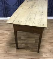 Georgian Two Drawer Pine Side Table (8 of 19)