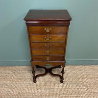 Edwardian Walnut Antique Music Cabinet (6 of 7)