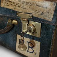 Antique Travel Case, Leather, Salesman's Suitcase, JW Allen, Strand, Edwardian (9 of 12)