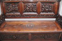 Superb Quality 19th Century Oak Box Settle (6 of 16)