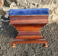 Early Victorian Shaped Rosewood Ottoman (6 of 6)