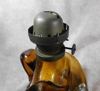 Art Nouveau, Amber Glass, Chamber Lamp (18 of 21)